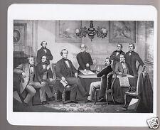 JEFFERSON DAVIS Confederate President with Cabinet & Robert E. Lee TRADING CARD