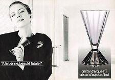 PUBLICITE ADVERTISING 044  1988  CRISTAL D'ARQUES  service  PYRAMIDE  ( 2 pages)