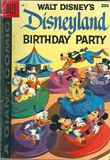 Dell Giant Comic Disneyland Birthday Party #1 1958 VG/Fine Condition