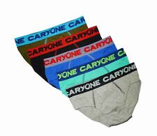 "NEW! AUTH CARYONE MEN'S BRIEF UNDERWEAR (SIZE LARGE /W30-32"", PACK OF 5 PRS)"