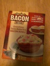 Perfect Bacon Bowl 2 Pc As Seen On Tv Kitchen Gadget Cooker Microwave Oven