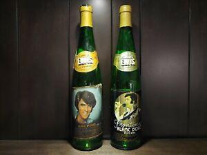 Vintage 1978 Elvis Presley Collectible Wine Bottles w/ Poem by Colonel (Empty)