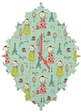 Deny Designs Heather Dutton Bonjour Lapin Baroque clock