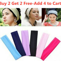 Women Elastic Stretch Wide Headband Hairband Running Yoga Turban Soft Head Wrap