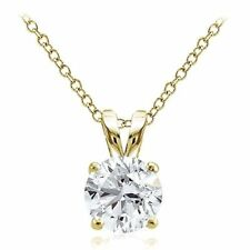 Yellow Gold Simulated Fine Necklaces & Pendants
