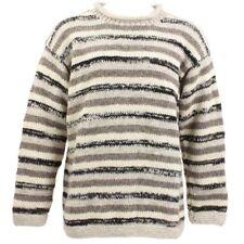 Maglioni e cardigan da uomo a righe in lana con girocollo