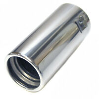 Universal Car Exhaust Pipe Trim Tip Tail Muffler Stainless Steel Chrome