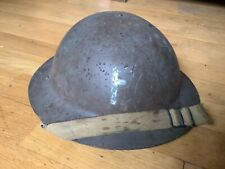 More details for original ww2 raw edge british fire helmet marked f dated 1940 ww1 shell