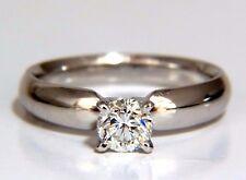 GIA Certified .51ct round cut diamond solitaire ring platinum classic G/Vs