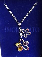 NEW Morellato Fleur silver stainless steel diamond and crystal Necklace