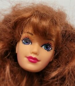 BARBIE DOLL HEAD ONLY FOR REPLACEMENT OR OOAK JEWEL HAIR 1995 MIDGE REDHEAD LONG