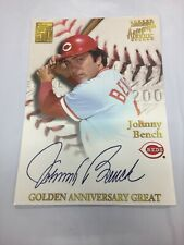 Topps Golden Anniversary Great Reds Johnny Bench Large Glossy 12.5x9 Inches