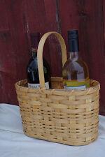 Authentic Handmade wood Amish Double Wine Basket