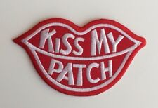 KISS MY PATCH Lips Embroidered Iron on Sew on patch Applique Badge 11cm x 6.3cm