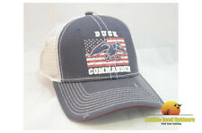 Duck Commander Navy and White Flag Cap Mesh hook-and-loop Adjustment Hat