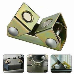 2 Pack Magnetic Angle Welding Clamps Steel Holder Suspender Adjustable Jig Tool