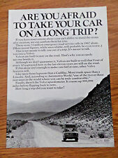 1970 Volvo Ad  Are You afraid to take your Car on A long Trip?