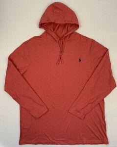 polo ralph lauren nantucket red lightweight t-shirt hoodie sz xlt tall
