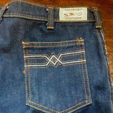 Talisman Sheplers Denim Jeans 36XL Embroidery Design Western Wear 36 x 31