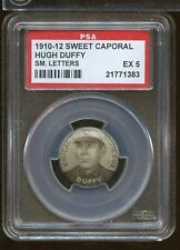 SC7) 1910-12 SWEET CAPORAL HUGH DUFFY Small Letters PSA 5 Chicago White Sox
