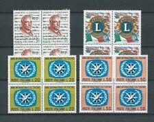 ITALIE - 1967 YT 984 à 987 blocs de 4 - TIMBRES NEUFS** MNH LUXE