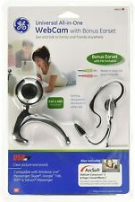 GE MiniCam Universal All-In-ONE WebCam With PC Stereo Headset kit Earset 98650
