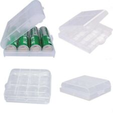 5 Clear Plastic Battery Box Storage Case Cover Holder For AA AAA Batteries