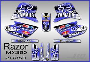 Razor MX350 graphics kit decals THICK AND HIGH GLOSS yamaha