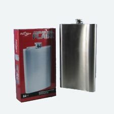 JD YEATTS GIANT FLASK 64OZ BEVERAGE CONTAINER STAINLESS STEEL PARTY FLASK GIFT