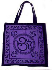 OM Symbol Eco Reusable Purple TOTE Yoga Hippie Boho BAG Purse Grocery Shopping