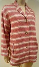 PAUL JOE SISTER Rosso & Bianco a Strisce Misto Cotone Casual Blazer FR36 UK8