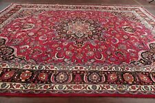 Antique Vegetable Dye Traditional Floral Kashmar Area Rug Hand-made Wool 10'x13'