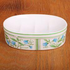 Blue Flowers Porcelain Soap Dish