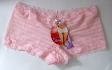 Ladies Size 8-10 Low Rise NO VPL Shorts Knickers Panties Lacy Baby Pink