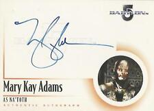 """The Complete Babylon 5 - A8 Mary Kay Adams """"Na'Toth"""" Autograph Card"""