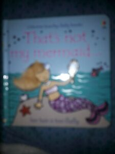 That's not my Mermaid Usborne touchy-feely Books Baby toddler story book -