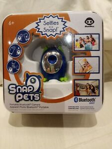 WOWWEE SNAP PETS PORTABLE BLUETOOTH CAMERA BLUE NEW Sealed