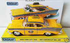 KiNSMART 1:40 Scale New York City 1957 CHEVROLET Bel Air TAXI CAB Yellow Checker