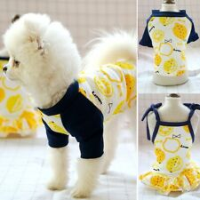 Small Dog Cat Summer Couple Pet Clothes Dress Puppy Vest Clothes T-shirt Apparel