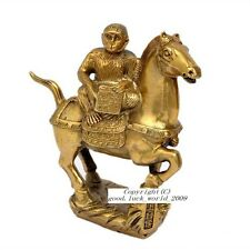 Chinese Tibet Pure Copper Monkey Riding Horse Bless you a Promotion #A010