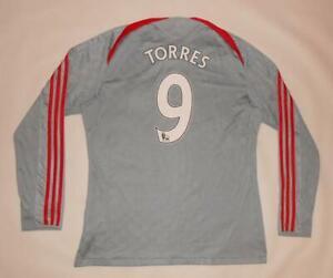 AWAY SHIRT ADIDAS FC LIVERPOOL 2008-09 - TORRES #9 - LONG SLEEVE (L) Jersey
