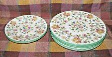 7 Minton Haddon Hall Salad Plates & Bread plates - Green Trim