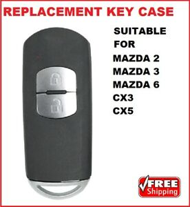 Replacement REMOTE PROX SMART KEY SHELL Suitable for MAZDA 2 - 3 -  6 CX3 CX5