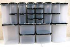 24 PIECES NEW TUPPERWARE MODULAR MATES MM BLACK ESSENTIAL JUMBO PANTRY SET