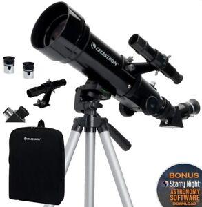 Celestron 21035 Travel Scope 70mm f/5.7 AZ Refractor Telescope Kit with Backpack