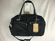 NEW FILSON 48 HR DUFFLE BAG BLACK CARRY ON TOTE 70328 OVERNIGHT WEEKEND LUGGAGE