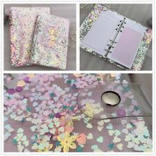 1PC A5 Sequins Notebook Cover Loose Leaf Ring Binder File Folder Shake Card PVC