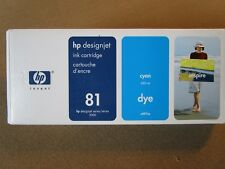 HP 81 Cyan Ink, C4931A, 680 ml., Factory Sealed, Genuine HP, Exp Dates 2009-2012