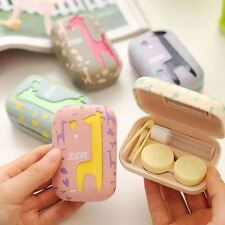 Protable Contact Lens Case CuteTravel Kit Storage Box with Mirror for Eyes Set