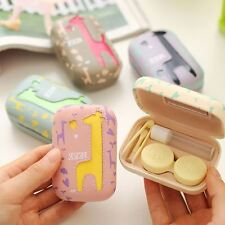 New Contact Lens Case CuteTravel Kit Storage Box with Mirror for Eyes Set